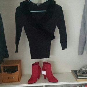 Xoxo faux fur sweater, very lightweight